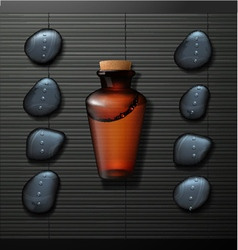Spa background with bottle vector