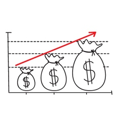 Money growth graph vector