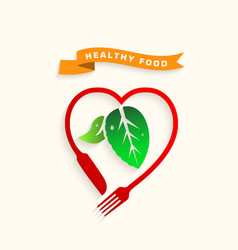 Healthy food icon conceptlove healthy food vector