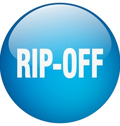 Rip-off blue round gel isolated push button vector