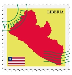 Mail to-from liberia vector