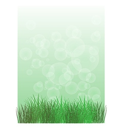 A stationery with green grass vector image vector image