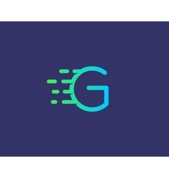 Abstract letter g logo design template dynamic vector