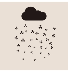 Acid rain and radioactive cloud flat vector image vector image