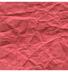 Background of crumpled paper in red color vector