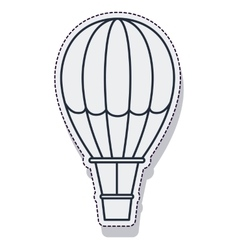 balloon air hot travel isolated icon vector image vector image