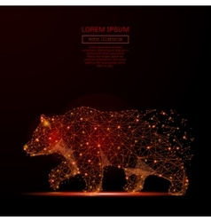 bear low poly flame vector image