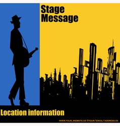 Big City Blues vector image vector image