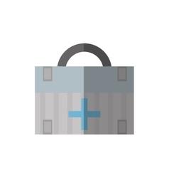 Cartoon first aid box medical urgency shadow vector