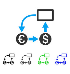 Cashflow euro exchange flat icon vector