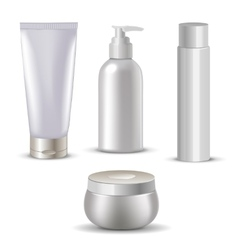 Cosmetic isolated product 3d bottle Plastic vector image