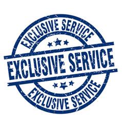 Exclusive service blue round grunge stamp vector
