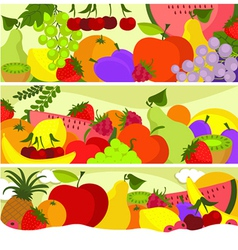 Fruit banners vector image vector image