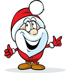 funny santa claus isolated on white background vector image