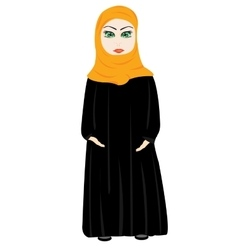 Girl in cloth hijab vector image