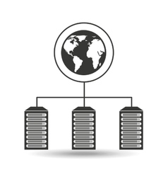 global data center connection vector image