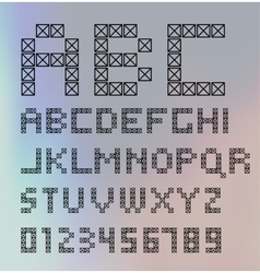 Graphic Alphabet Set vector image