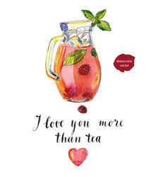 i love you more than tea vector image vector image