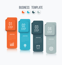 infographics four options vector image vector image