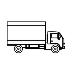 Isolated truck design vector