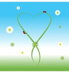 ladybug spring background vector image vector image