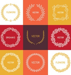 linear badges and frames vector image vector image