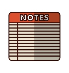lined notepad icon image vector image