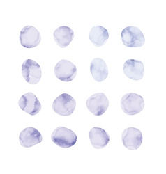 Purple watercolor spots stained petals hand vector