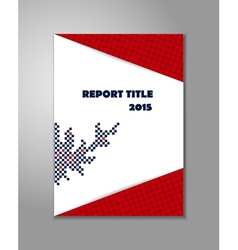 Report cover design vector image
