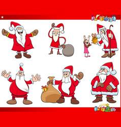 santa claus christmas characters set vector image vector image