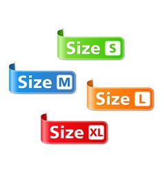 Size Labels vector image