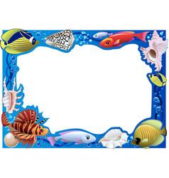 Underwater frame vector
