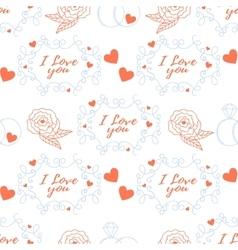 Wedding seamless pattern vector image