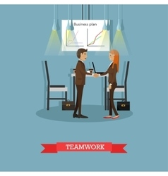 Poster of business presentations and vector