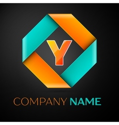 Letter y logo symbol in the colorful rhombus on vector
