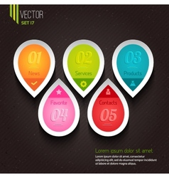 Set of five colorful icons vector