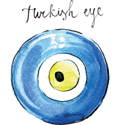 Watercolor turkish eye vector