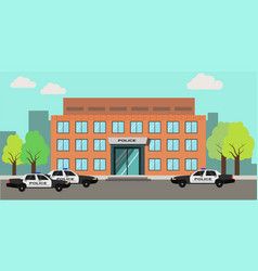 Police station building vector