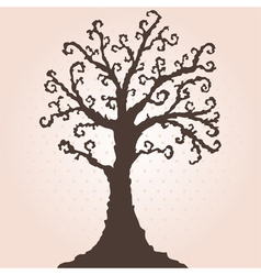 decorative tree vector image