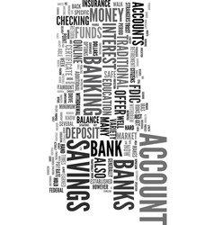You can bank on it text word cloud concept vector