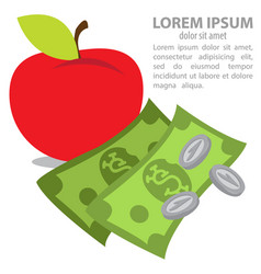 Apple and money farming agricultural business vector