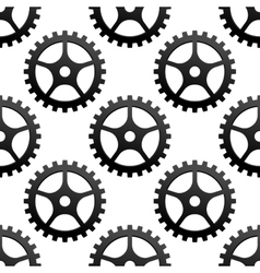 Seamless pattern of industrial gears or cog wheels vector