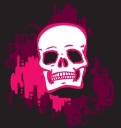 skull pink vector image