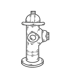 Sketch fire hydrant vector