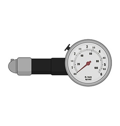 Tire pressure gauge color vector