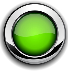 Glossy green button vector