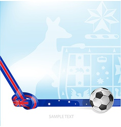 Australian background soccer ball vector