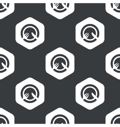 Black hexagon dishware pattern vector
