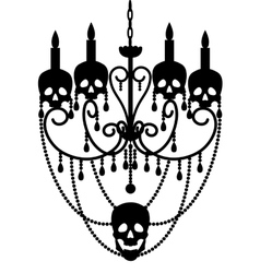 Chandelier with skulls vector