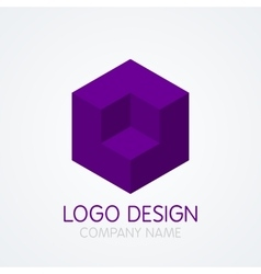 Logo design cube vector